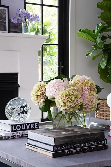 Coffee table styling for Interior design decoration book