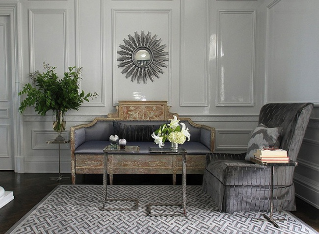 Elegant interiors in sophisticated shades of grey sarah Shades of gray for living room