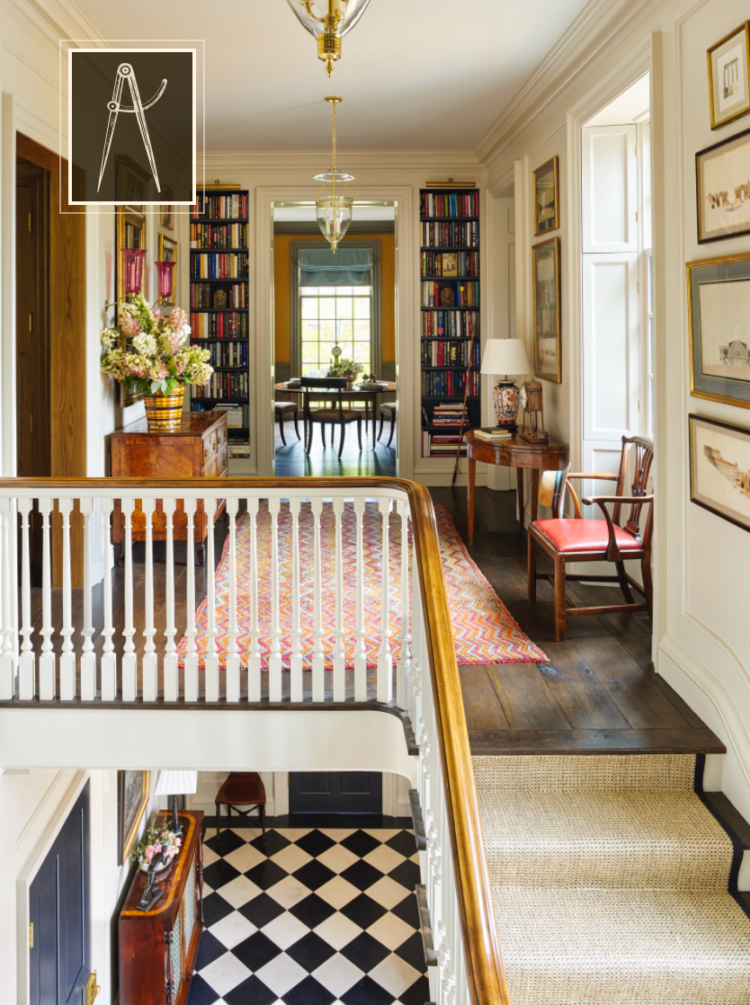 classic Southern home with bookcase