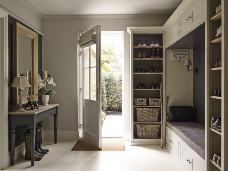 mudroom in neutral