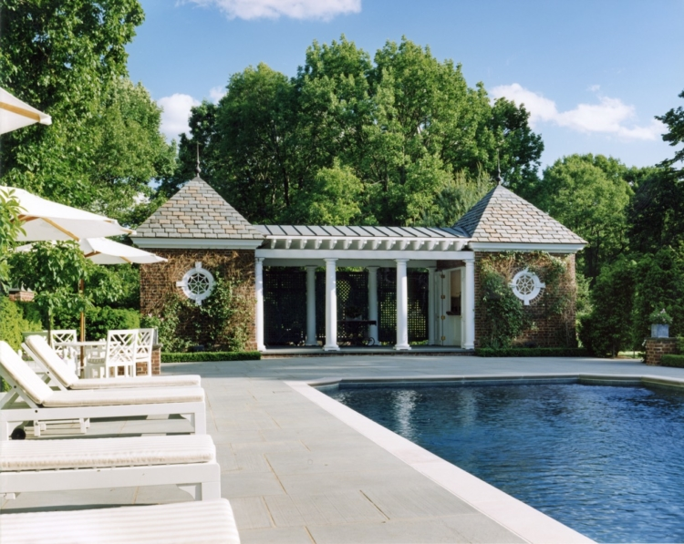 pool and pool house Charles Hilton Architects