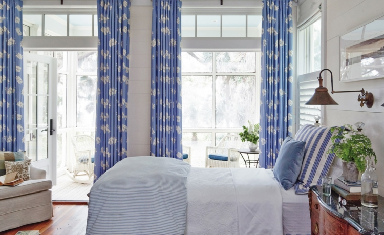 blue and white bedroom - J Banks Design