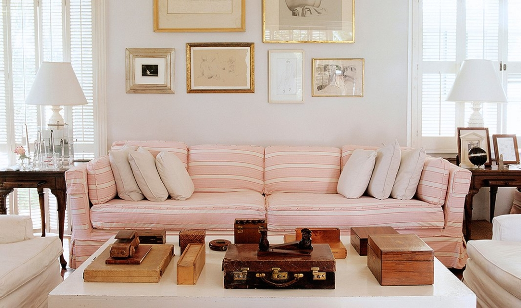 pink in the living room