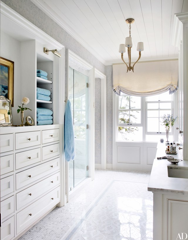shower with glass door - Master Bath