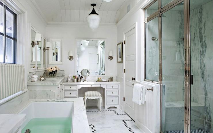 bathroom with glass shower.- Master Bath