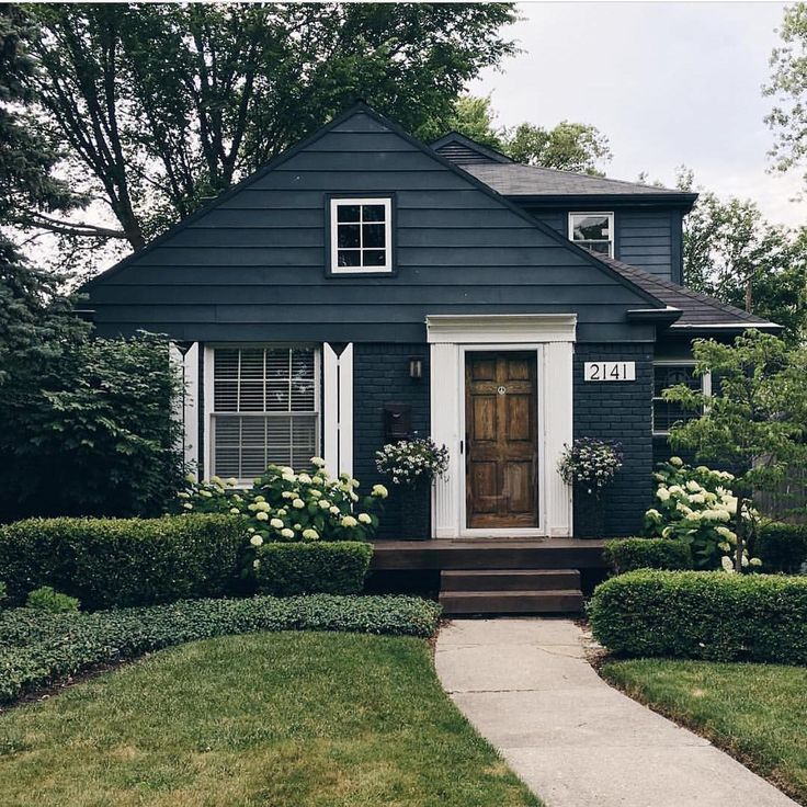 navy wood house paint