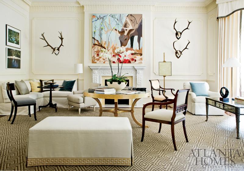antlers in living room