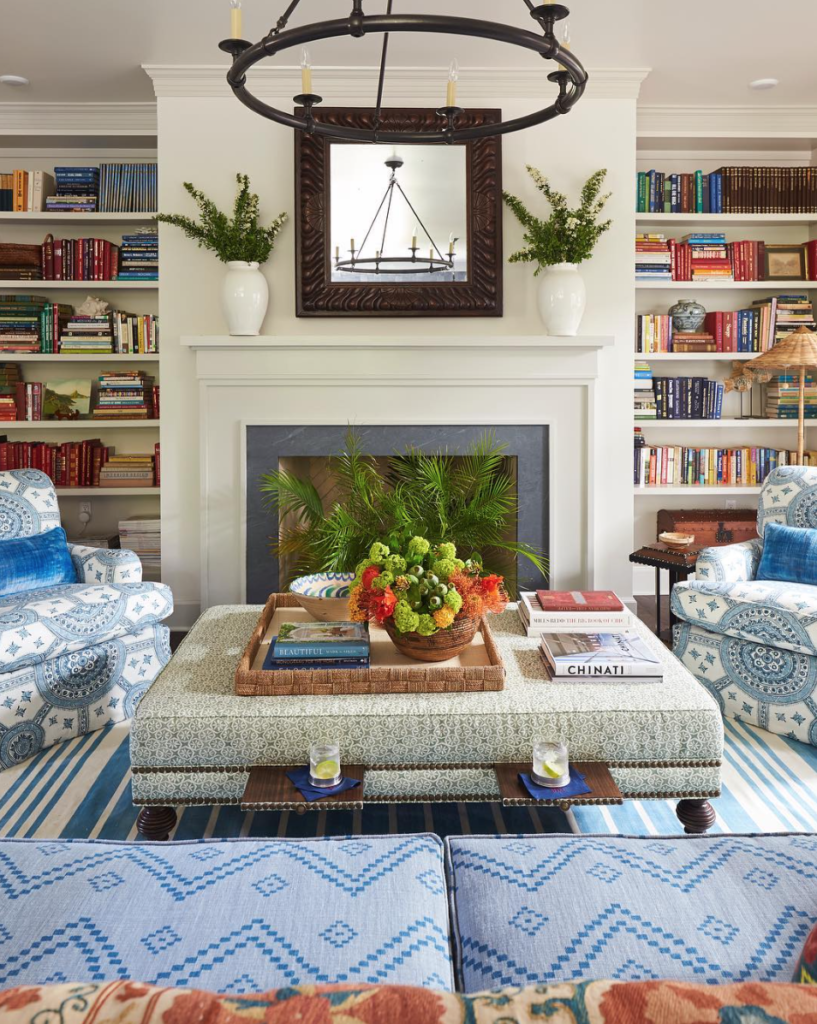 Meredith Ellis living room Southern Living Showhouse