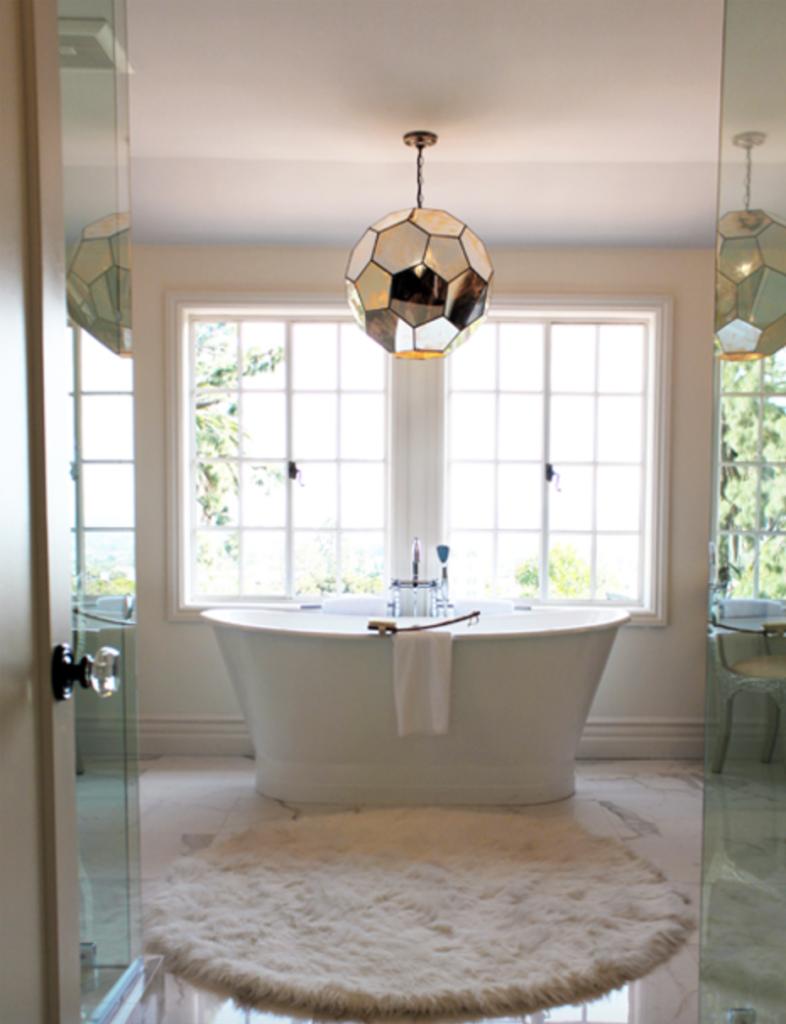 Kishani Perera Interiors bathroom with freestanding tub