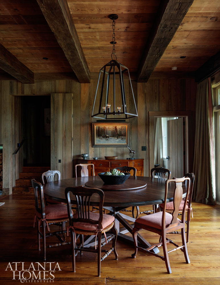 hunting lodge dining room