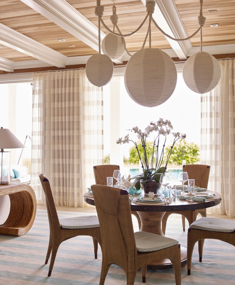 Bahamas house by Marshall Watson dining room