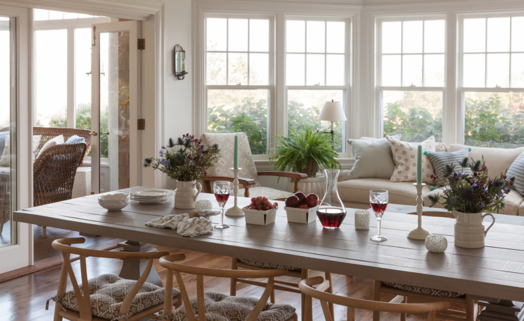 Martha's Vineyard House Tour dining room