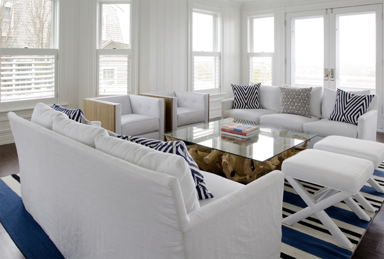 Nantucket cottage from Threshold Interiors