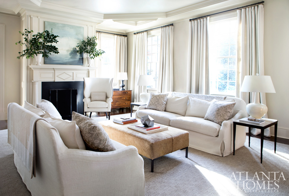 Suzanne Kasler Buckhead home - living room