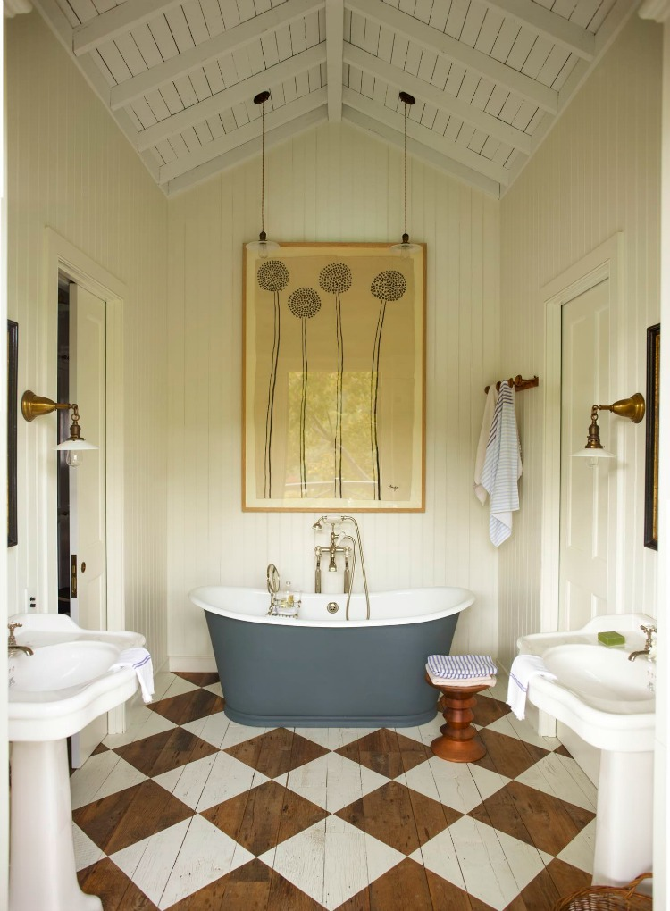Mill Valley bathroom designed by Gil Schafer Architects