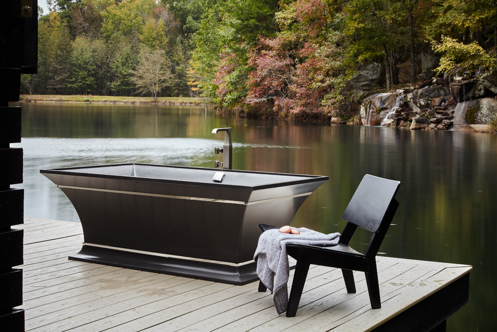 Design Galleria Kitchen and Bath Studio- respite-retreat-bathtub- outdoor living