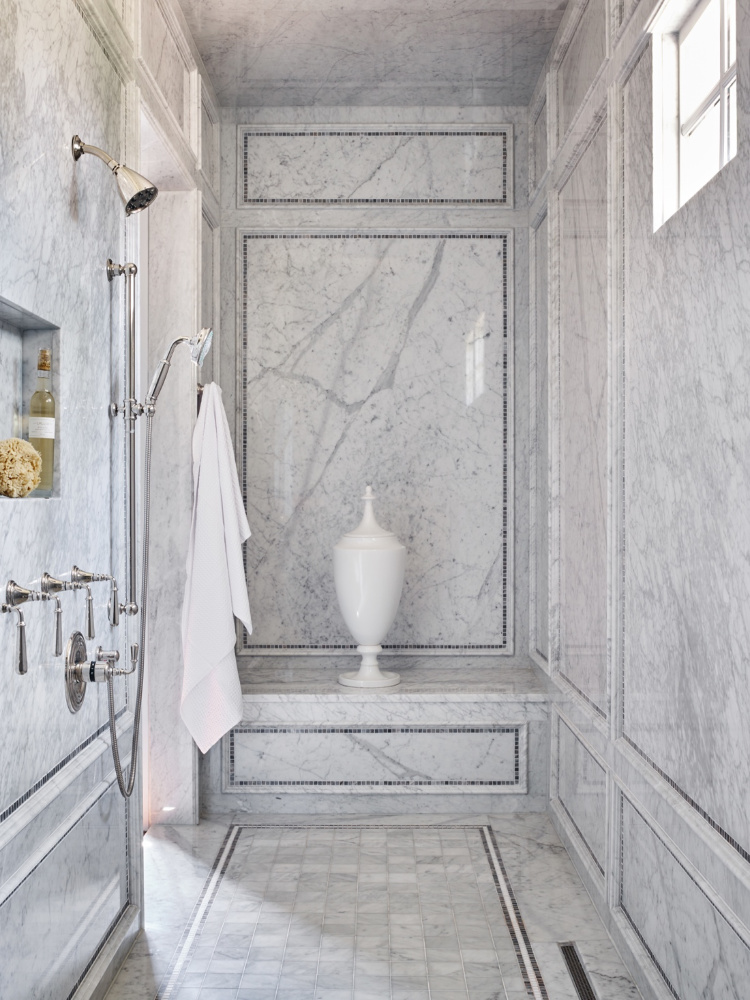 Harrison Design marble bathroom