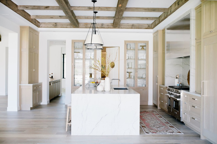 Nomad Design kitchen with wood beams