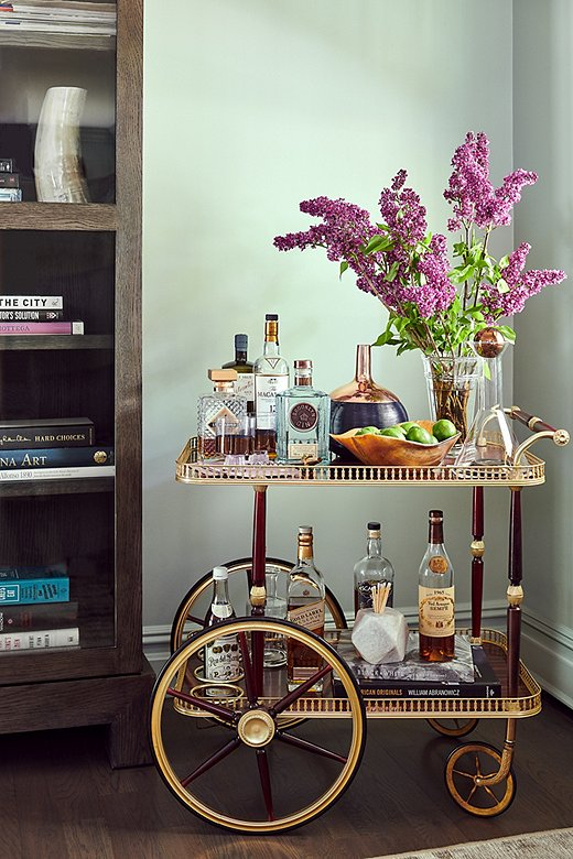 bar cart accessories Modern farmhouse