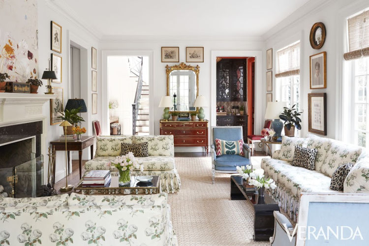 Georgian Home in Alabama designed by James F. Carter and Interiors by Caroline Gidiere living room