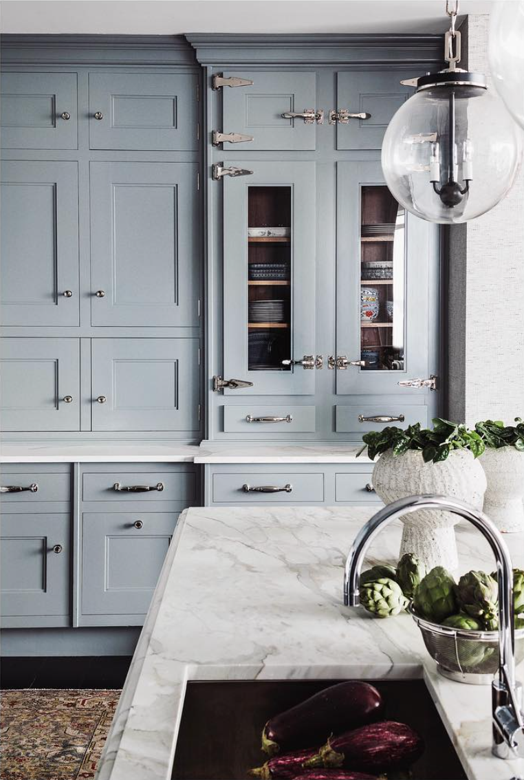 Read McKendree Photography - Katie Rosenfeld kitchen with blue cabinets