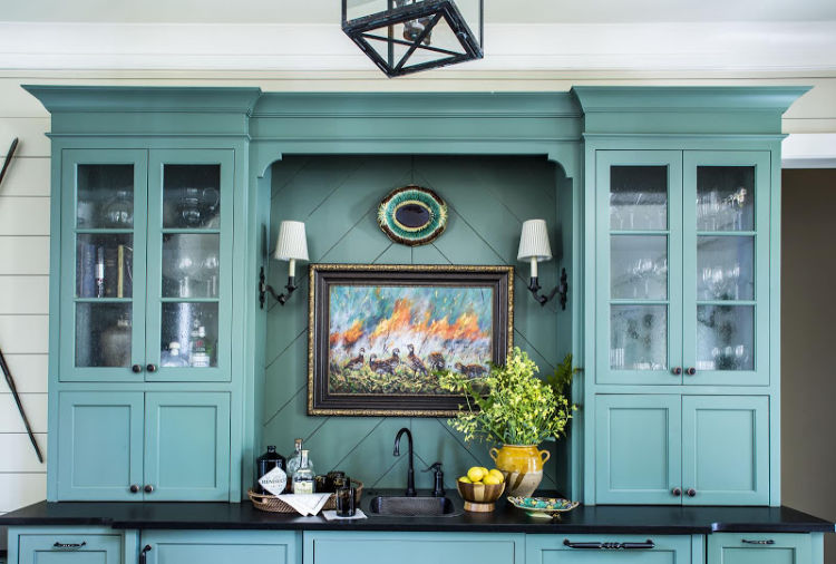 C. Brandon Ingram Design Mallory Mathison Interiors hunting lodge kitchen