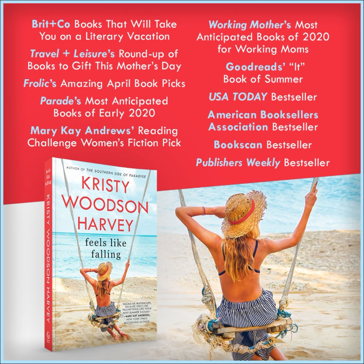Feels Like Falling beach book by Kristy Woodson Harvey