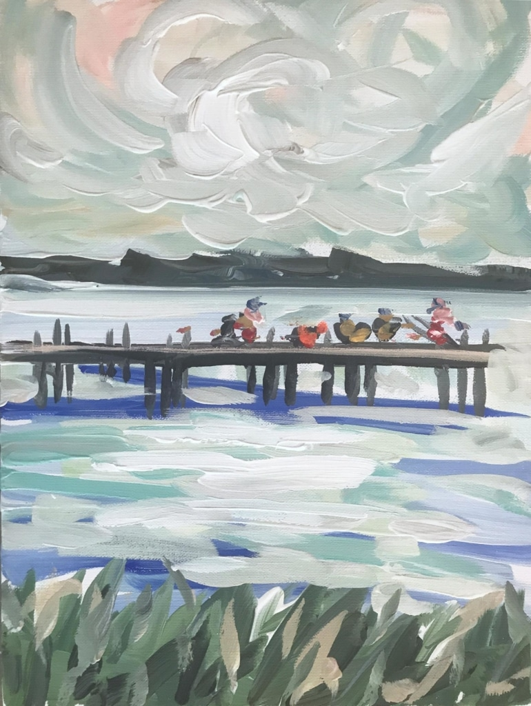 Maren Devine print fishing on pier