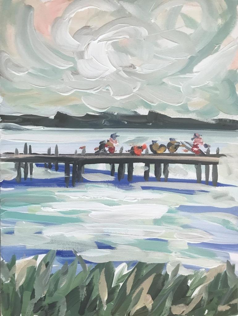 Maren Devine print fishing on pier