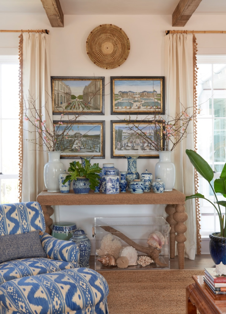 Jenny Keenan Design blue and white living room