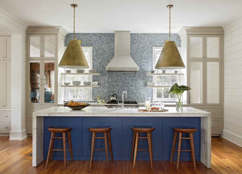 Jenny Keenan Design blue and white kitchen