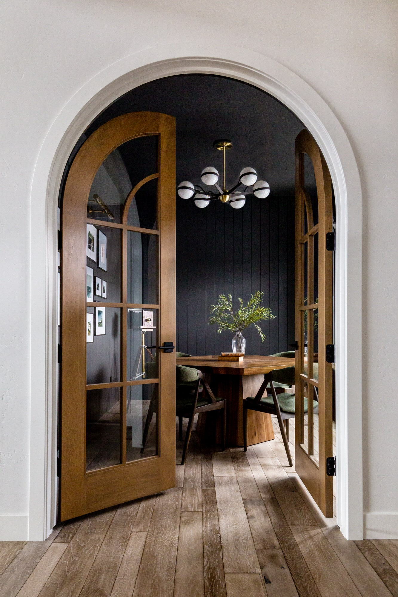 House of Jade dining room with arched doors