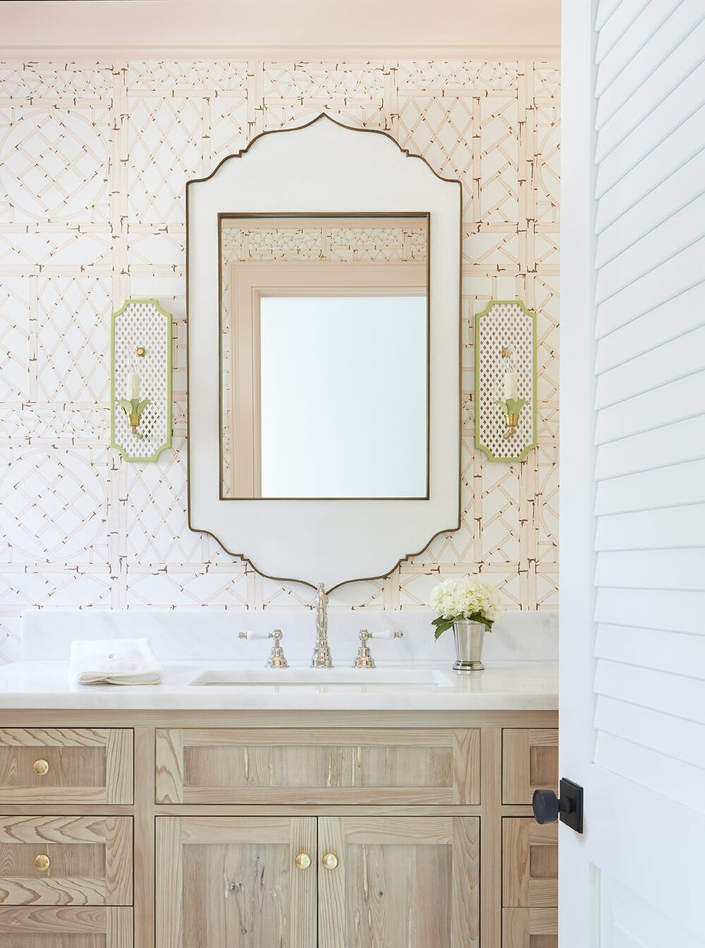 powder room designed by Kara Miller