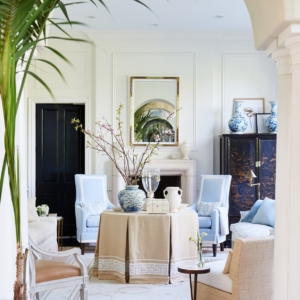 10 Favorite Mark Sikes Designed Blue & White Rooms