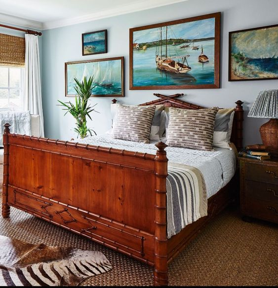 Meredith Ellis Design bedroom with bamboo bed