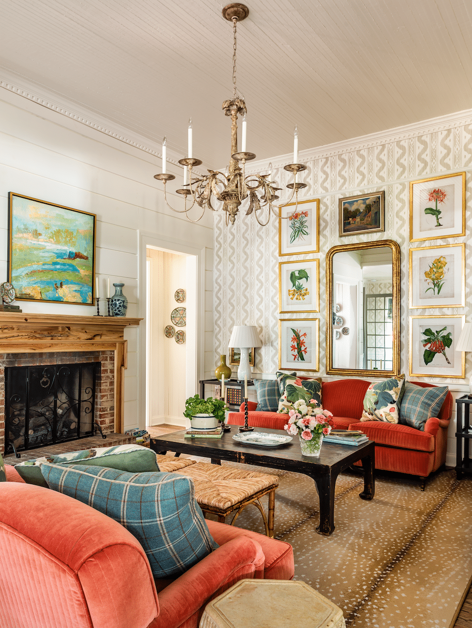 Aiken, SC James Farmer designed house tour living room