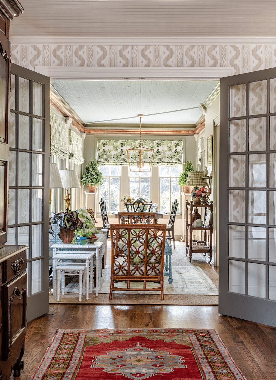James Farmer designed house tour sunroom