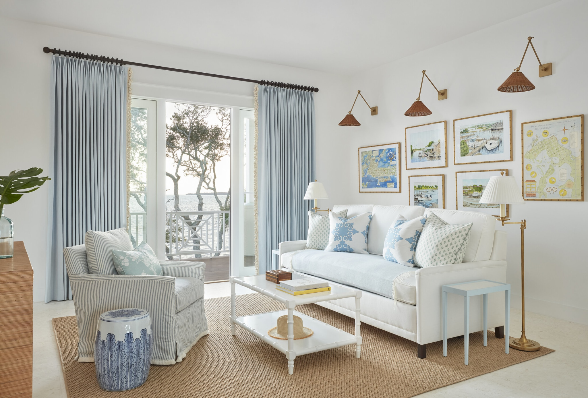 Easy Elegance with Kara Miller Interiors Brantley Photography blue and white